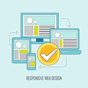 Fully responsive user interface on any device in thin line style