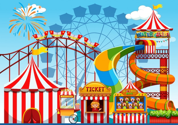 Fun amusement park illustration