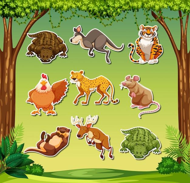 Fun animal sticker pack