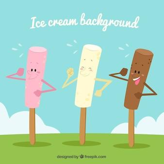 아이스크림 재미있는 배경