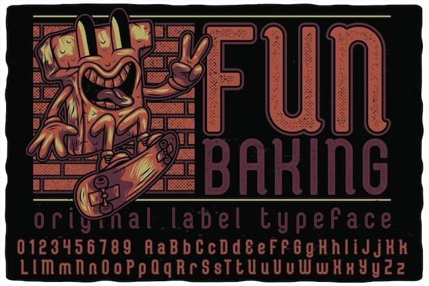Веселая выпечка алфавитного шрифта