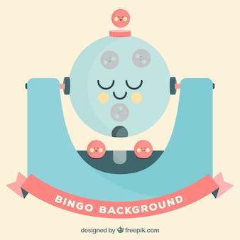 Fun bingo background в плоском дизайне