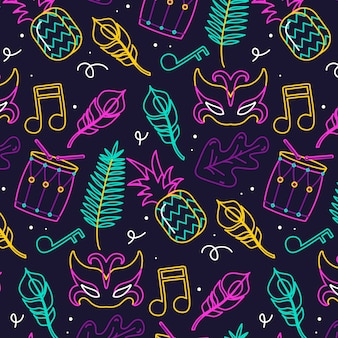 Fun brazilian carnival pattern