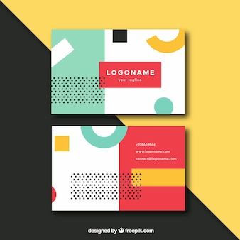 Fun business card with colorful style