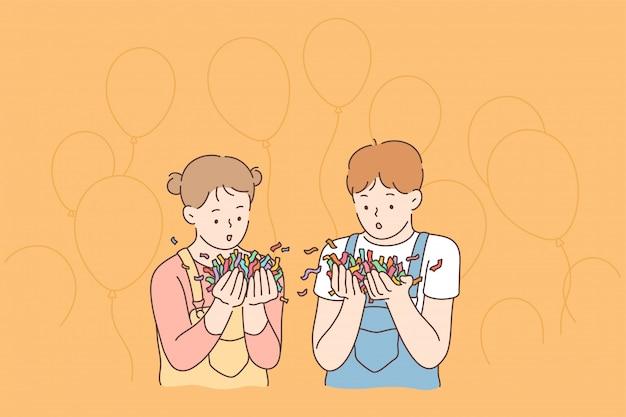 Весело праздник праздник радость концепция