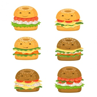 Fun collection of burgers