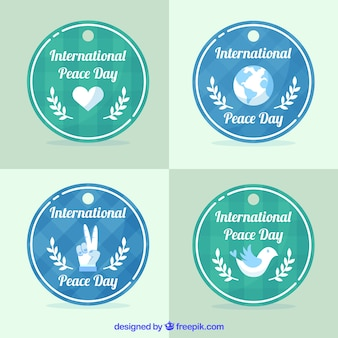 Fun collection of peace labels