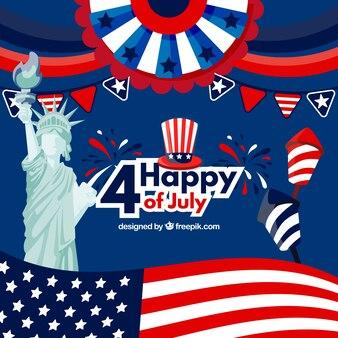 Веселая композиция дня независимости америки