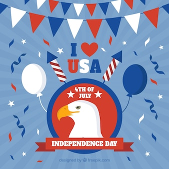 Fun composition of american independence day