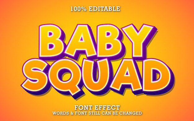 Fun and cute cartoon text effect for sticker or title