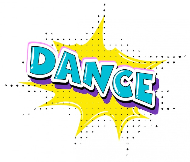 Fun dance retro text