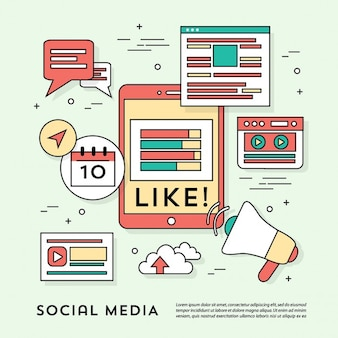 Fun elements for social networks