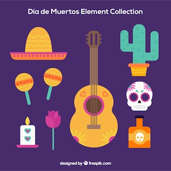Fun elements with mexican style