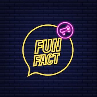 Fun fact neon icon.vector stock illustration.