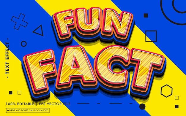 Fun fact text effect style