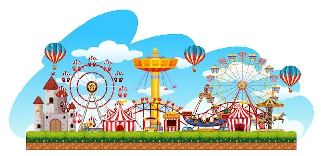 Fun fair amusement scene