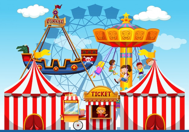 Fun fair raide background