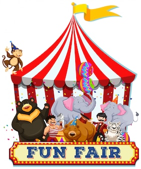 A fun fair with animals