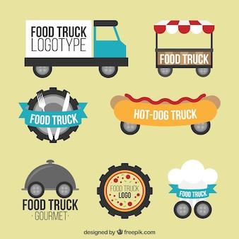 Логотипы грузовиков для грузовиков с плоской конструкцией