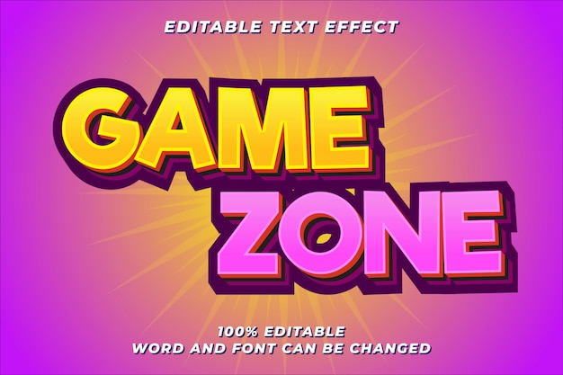 Fun game text style effect Premium Vector