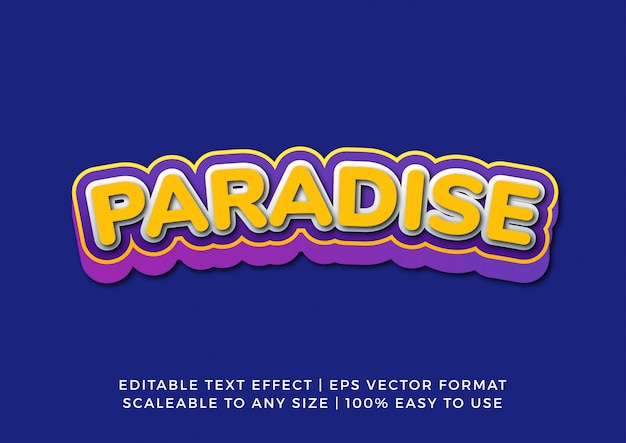 Fun happy vibrant rounded text effect