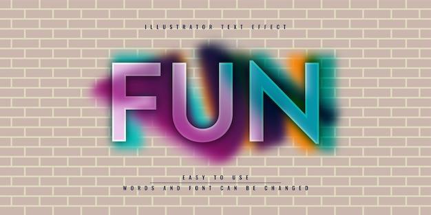 Дизайн шаблона редактируемого текстового эффекта fun illustrator