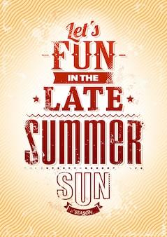 여름 배경에서 재미