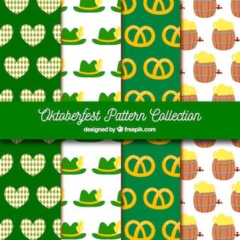 Fun pack of colorful oktoberfest patterns