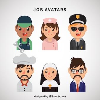 Pacchetto divertente di avatar di lavoro