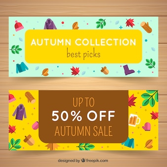 Fun pack of autumn sale banners