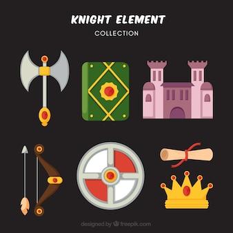 Веселый набор рыцарских элементов