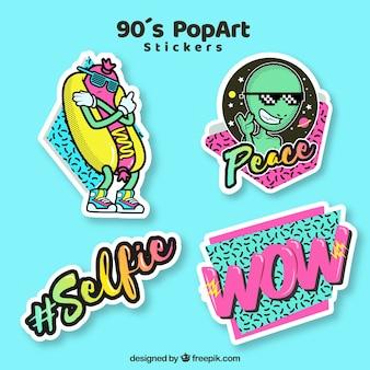 Веселая коллекция стикеров поп-арта