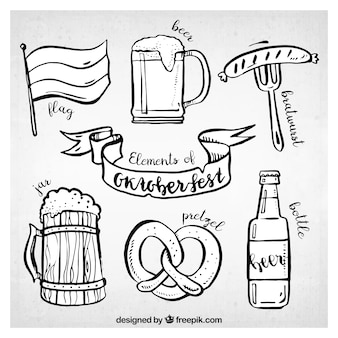 Fun pack of sketchy elements for oktoberfest