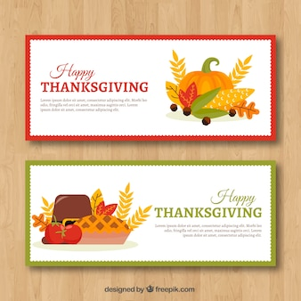 Fun pack of thanksgiving banners