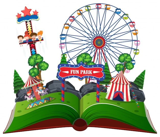 Fun park pop up book