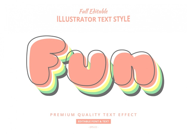 Fun pastel text  effect