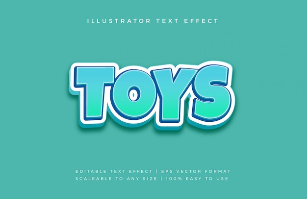 Fun playful text style font effect