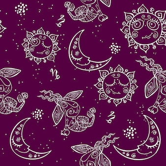 A fun seamless pattern for kids