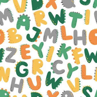 A fun seamless pattern with letters