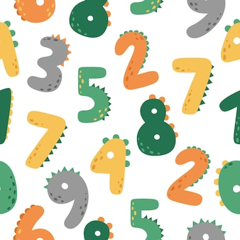 A fun seamless pattern with numbers
