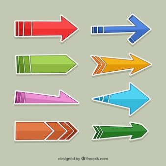 Set divertente di adesivi freccia
