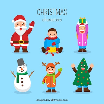 Fun set of christmas characters