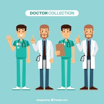 幸せな医師の楽しいセット