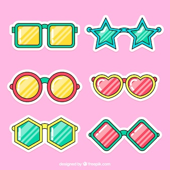 Set divertente di adesivi per occhiali da sole