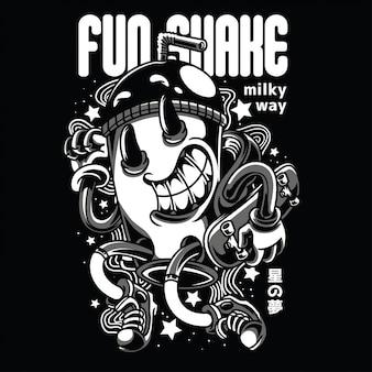 Fun shake black n white