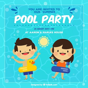 Fun summer party invitation