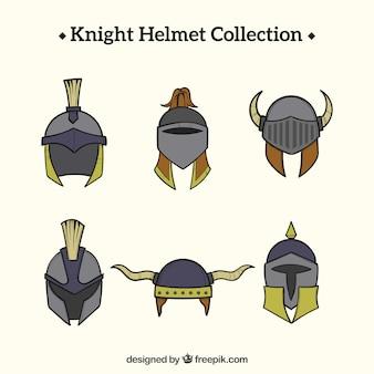 Fun variety of knight helmet