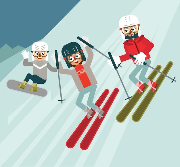 Fun winter sports