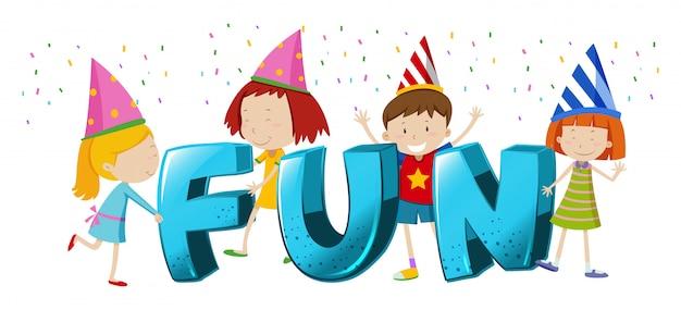 Дизайн шрифта для слова fun