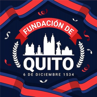 Fundacion de quito and flag